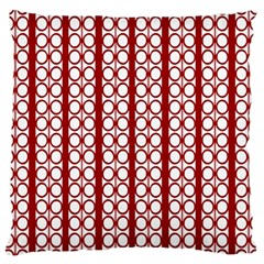 Circles Lines Red White Pattern Large Cushion Case (two Sides)