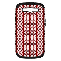 Circles Lines Red White Pattern Samsung Galaxy S Iii Hardshell Case (pc+silicone)