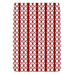Circles Lines Red White Pattern Removable Flap Cover (l)