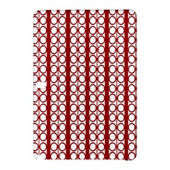 Circles Lines Red White Pattern Samsung Galaxy Tab Pro 12 2 Hardshell Case