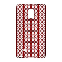 Circles Lines Red White Pattern Samsung Galaxy Note Edge Hardshell Case