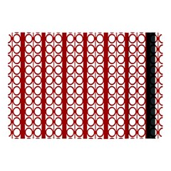 Circles Lines Red White Pattern Apple Ipad 9 7