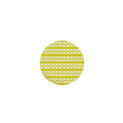 Circles Lines Yellow Modern Pattern 1  Mini Buttons by BrightVibesDesign