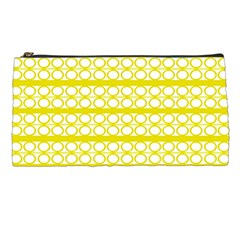 Circles Lines Yellow Modern Pattern Pencil Cases