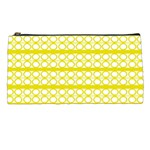 Circles Lines Yellow Modern Pattern Pencil Cases Front