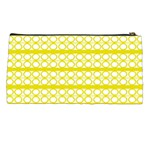 Circles Lines Yellow Modern Pattern Pencil Cases Back