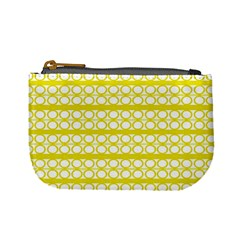 Circles Lines Yellow Modern Pattern Mini Coin Purse
