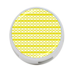 Circles Lines Yellow Modern Pattern 4 Port Usb Hub (one Side)