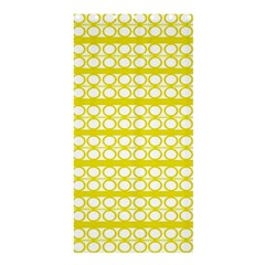 Circles Lines Yellow Modern Pattern Shower Curtain 36  X 72  (stall)