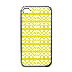 Circles Lines Yellow Modern Pattern Apple Iphone 4 Case (black)