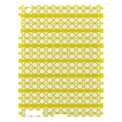 Circles Lines Yellow Modern Pattern Apple Ipad 3/4 Hardshell Case by BrightVibesDesign