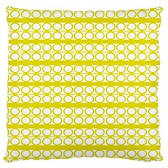 Circles Lines Yellow Modern Pattern Large Cushion Case (one Side)