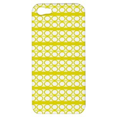 Circles Lines Yellow Modern Pattern Apple Iphone 5 Hardshell Case