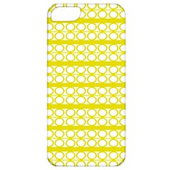 Circles Lines Yellow Modern Pattern Apple Iphone 5 Classic Hardshell Case by BrightVibesDesign