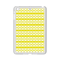Circles Lines Yellow Modern Pattern Ipad Mini 2 Enamel Coated Cases by BrightVibesDesign