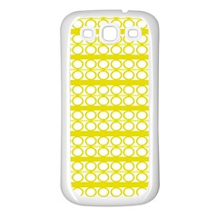 Circles Lines Yellow Modern Pattern Samsung Galaxy S3 Back Case (white)