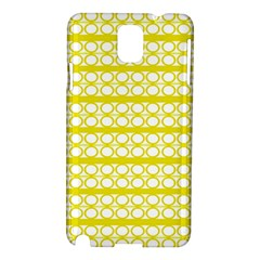 Circles Lines Yellow Modern Pattern Samsung Galaxy Note 3 N9005 Hardshell Case