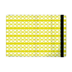 Circles Lines Yellow Modern Pattern Ipad Mini 2 Flip Cases by BrightVibesDesign