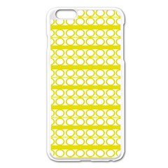 Circles Lines Yellow Modern Pattern Apple Iphone 6 Plus/6s Plus Enamel White Case