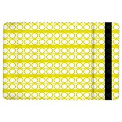 Circles Lines Yellow Modern Pattern Ipad Air 2 Flip