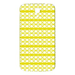 Circles Lines Yellow Modern Pattern Samsung Galaxy Mega I9200 Hardshell Back Case