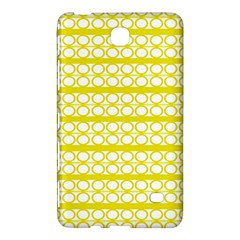 Circles Lines Yellow Modern Pattern Samsung Galaxy Tab 4 (8 ) Hardshell Case  by BrightVibesDesign