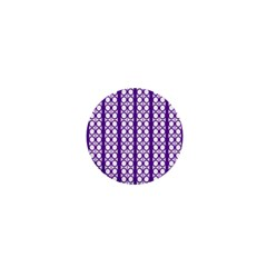 Circles Lines Purple White Modern Design 1  Mini Buttons by BrightVibesDesign