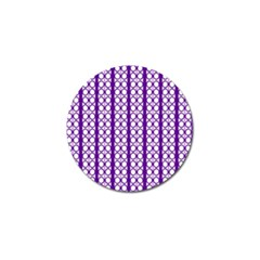 Circles Lines Purple White Modern Design Golf Ball Marker (4 Pack)