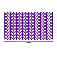 Circles Lines Purple White Modern Design Business Card Holder