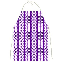 Circles Lines Purple White Modern Design Full Print Aprons by BrightVibesDesign