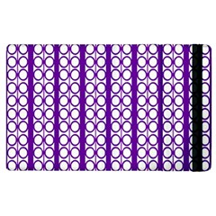 Circles Lines Purple White Modern Design Apple Ipad 2 Flip Case