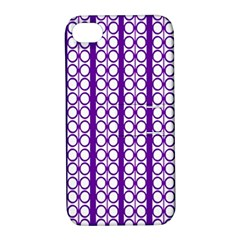 Circles Lines Purple White Modern Design Apple Iphone 4/4s Hardshell Case With Stand