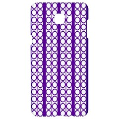 Circles Lines Purple White Modern Design Samsung C9 Pro Hardshell Case  by BrightVibesDesign