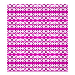 Circles Lines Bright Pink Modern Pattern Shower Curtain 66  X 72  (large)  by BrightVibesDesign