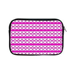 Circles Lines Bright Pink Modern Pattern Apple Ipad Mini Zipper Cases by BrightVibesDesign