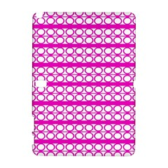 Circles Lines Bright Pink Modern Pattern Samsung Galaxy Note 10 1 (p600) Hardshell Case