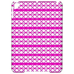 Circles Lines Bright Pink Modern Pattern Apple Ipad Pro 9 7   Hardshell Case