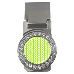 Circle Stripes Lime Green Modern Pattern Design Money Clips (cz)  by BrightVibesDesign