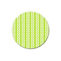 Circle Stripes Lime Green Modern Pattern Design Magnet 3  (round) by BrightVibesDesign