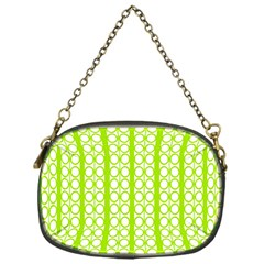 Circle Stripes Lime Green Modern Pattern Design Chain Purse (one Side) by BrightVibesDesign