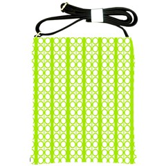 Circle Stripes Lime Green Modern Pattern Design Shoulder Sling Bag