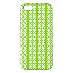Circle Stripes Lime Green Modern Pattern Design Apple Iphone 5 Premium Hardshell Case