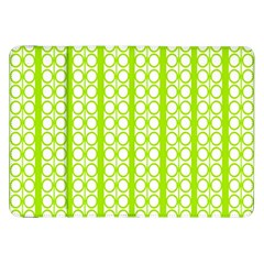 Circle Stripes Lime Green Modern Pattern Design Samsung Galaxy Tab 8 9  P7300 Flip Case