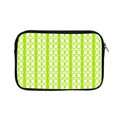 Circle Stripes Lime Green Modern Pattern Design Apple Ipad Mini Zipper Cases by BrightVibesDesign