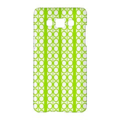 Circle Stripes Lime Green Modern Pattern Design Samsung Galaxy A5 Hardshell Case  by BrightVibesDesign