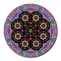Decorative Ornate Candy With Soft Candle Light For Peace Round Mousepads