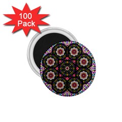 Decorative Ornate Candy With Soft Candle Light For Peace 1 75  Magnets (100 Pack)  by pepitasart