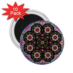 Decorative Ornate Candy With Soft Candle Light For Peace 2 25  Magnets (10 Pack)