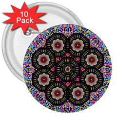 Decorative Ornate Candy With Soft Candle Light For Peace 3  Buttons (10 Pack)  by pepitasart