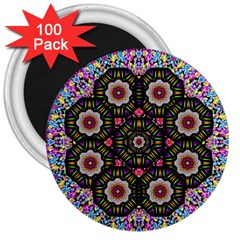 Decorative Ornate Candy With Soft Candle Light For Peace 3  Magnets (100 Pack) by pepitasart